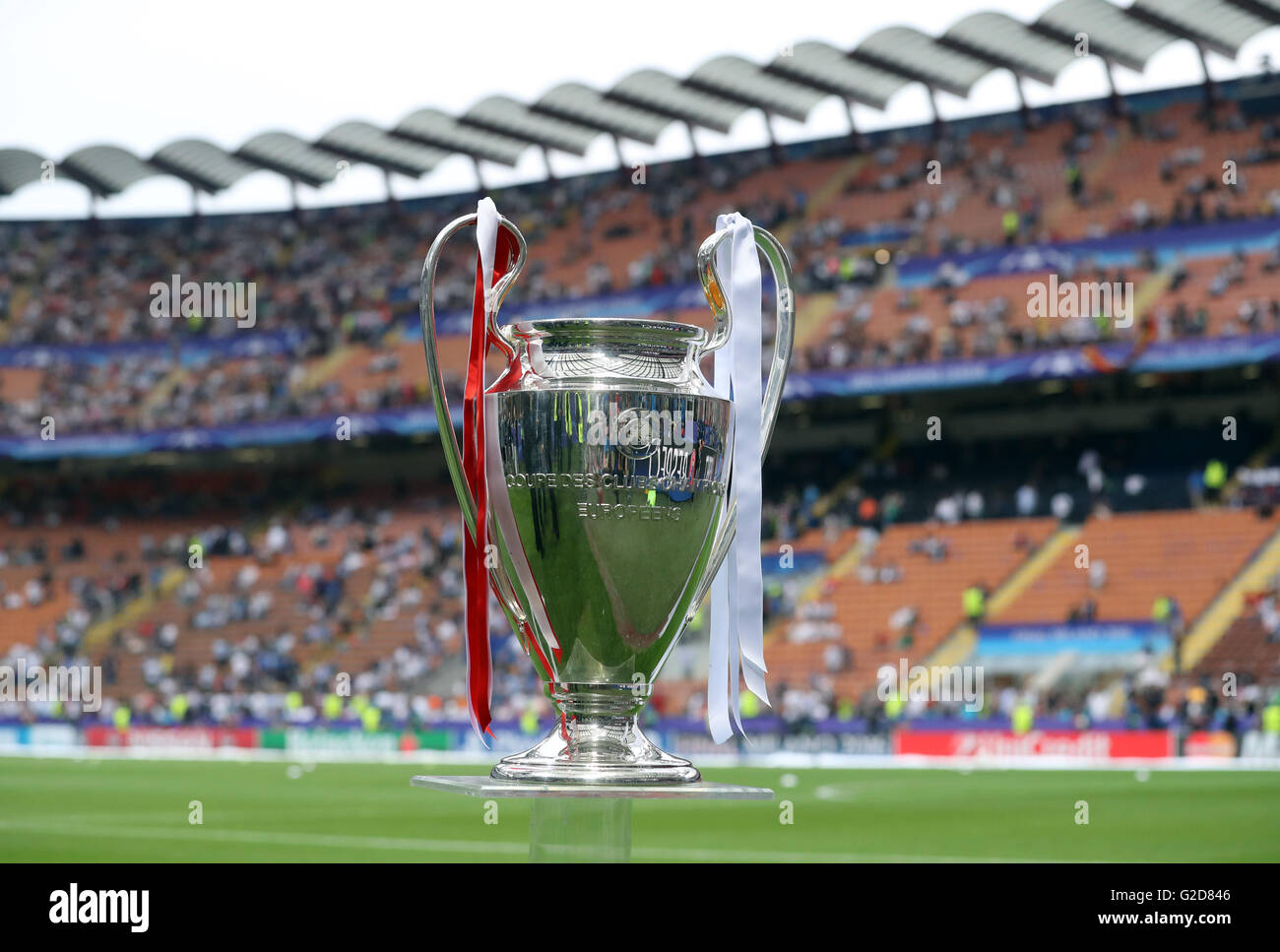 28th May 2016 The UEFA Champions League Trophy Is Seen On Display Before Final Between Real Madrid And Atletico At