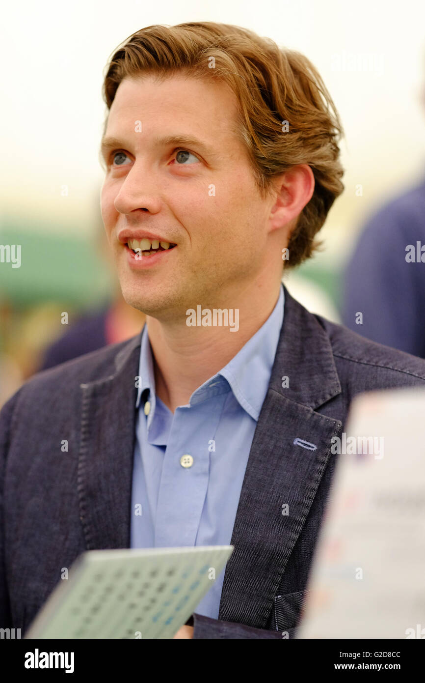 Hay Festival - Saturday 28th May 2016 - Author Alec Ross a technology policy expert who was Senior Advisor for Innovation - Stock Image