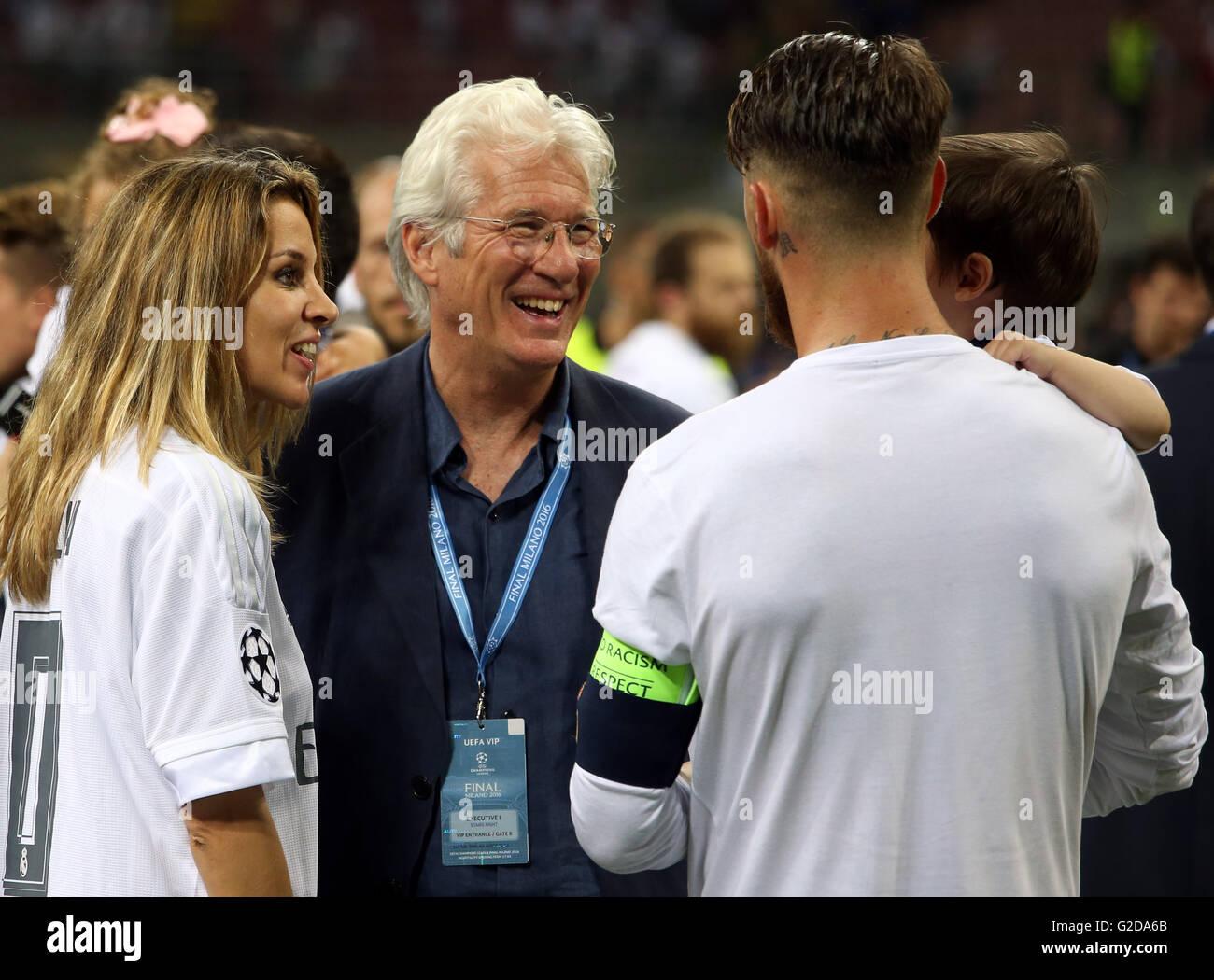 Milan, Italy. 28th May, 2016. UEFA Champions League Final between Real Madrid and Atletico de Madrid at the San Stock Photo