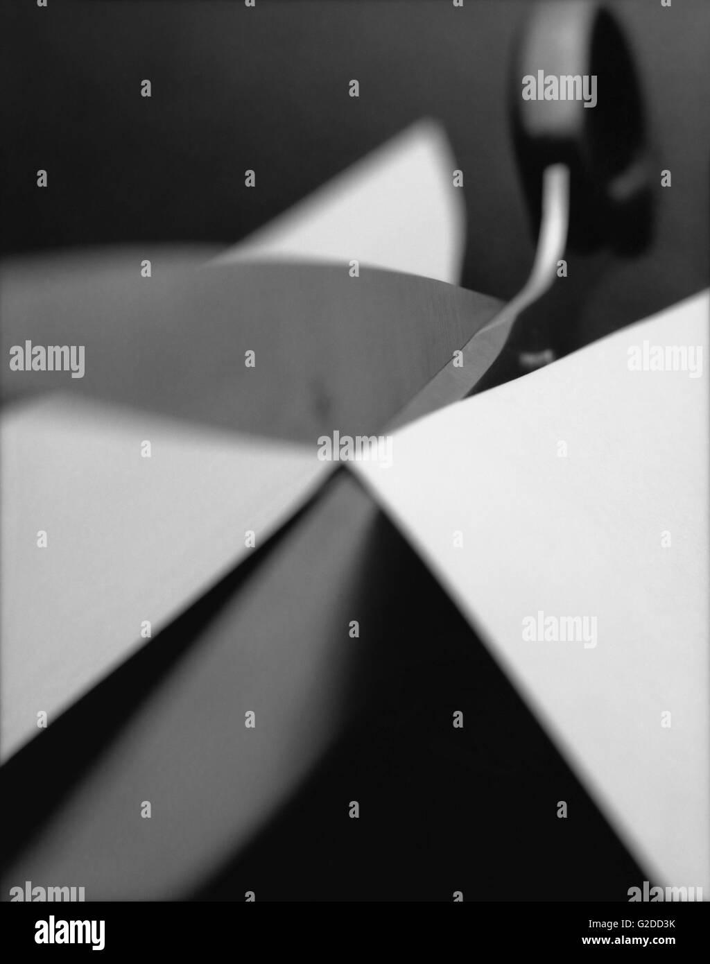 Scissors and Paper - Stock Image