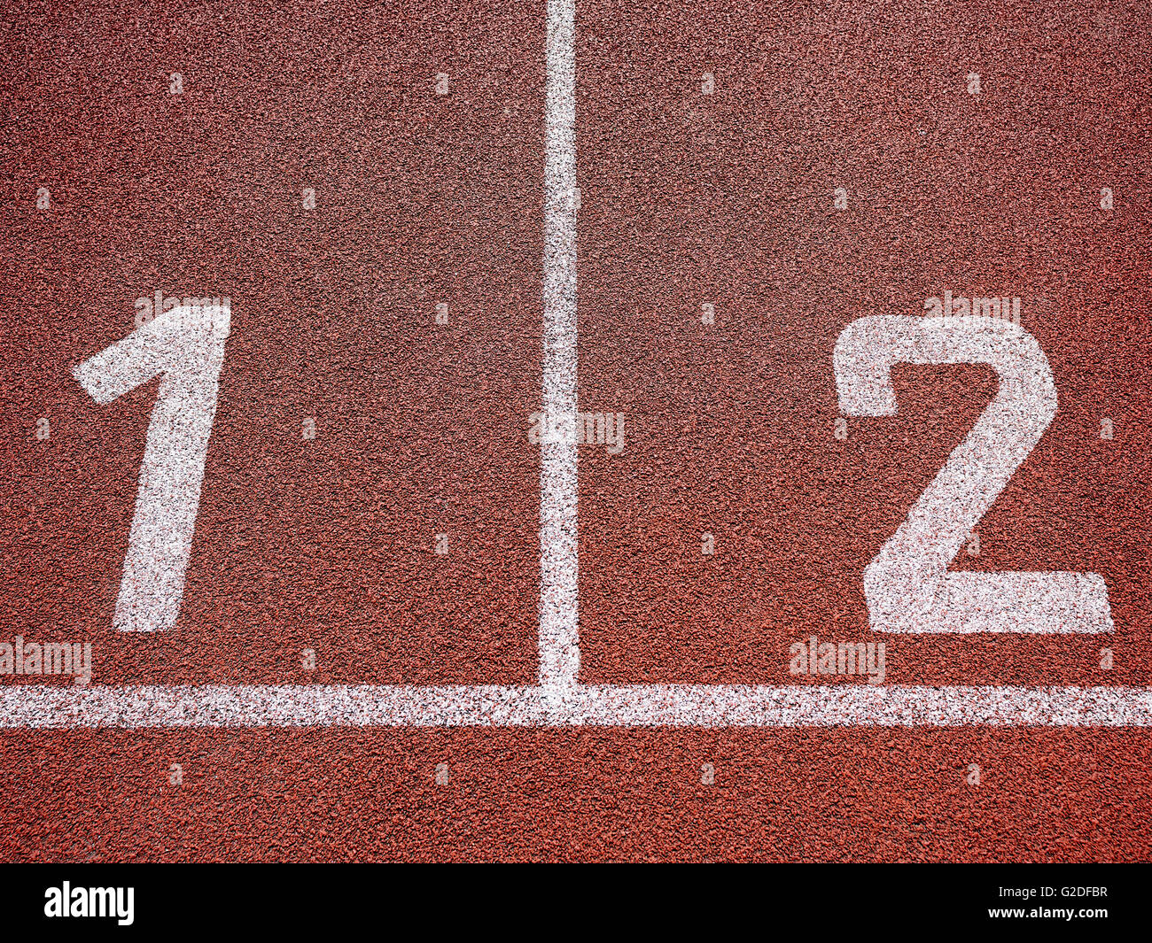 All-weather running track - Stock Image