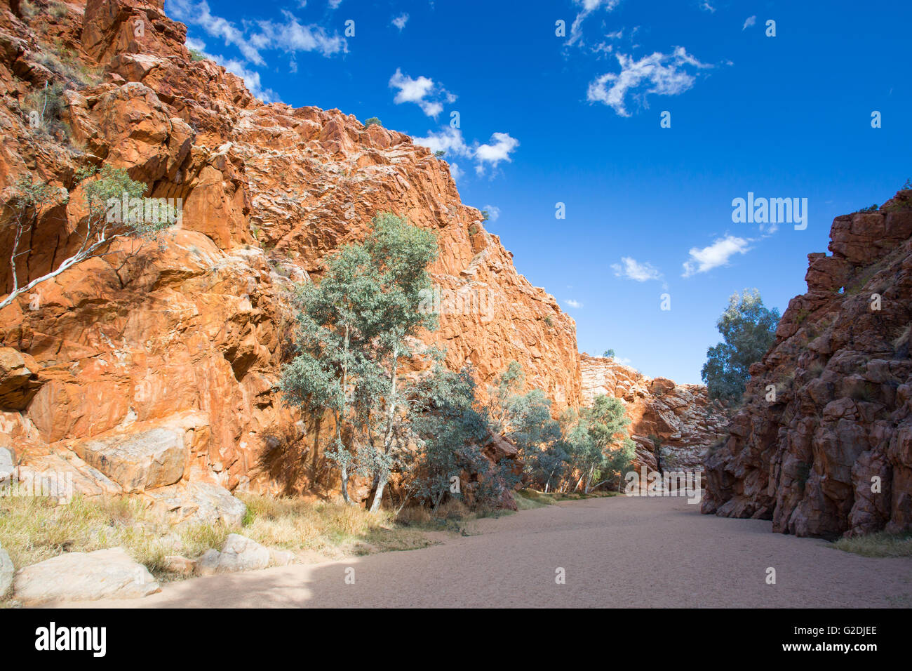Emily Gap Nature Reserve near Alice Springs, Northern Territory, Australia - Stock Image