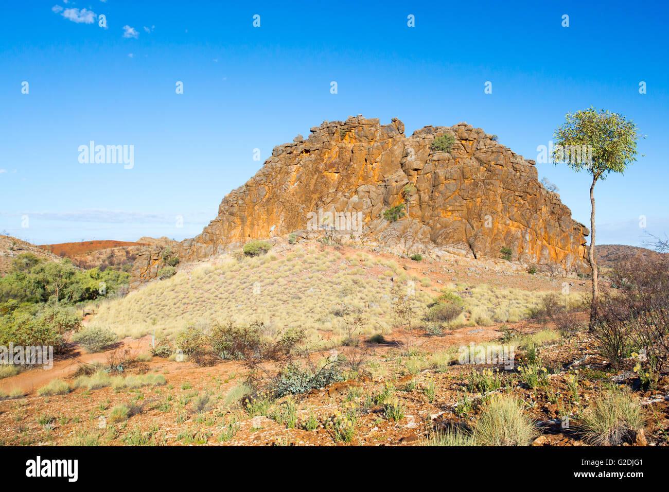 Corroboree Rock in East Macdonnell Ranges near Alice Springs, Northern Territory, Australia - Stock Image
