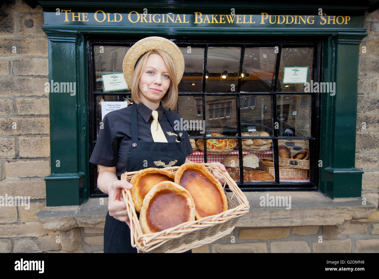 The Old Original Bakewell Pudding Shop - Bakewell Puddings, Bakewell, Derbyshire - Stock Image