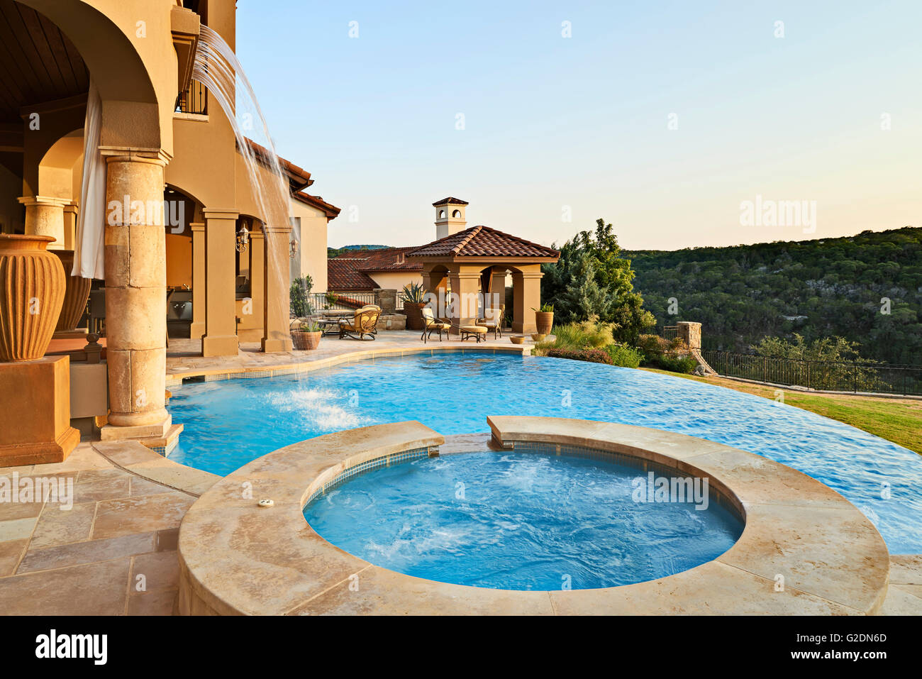 Swimming Pool at Upscale House - Stock Image
