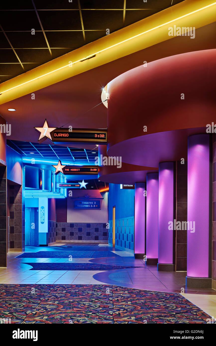 Movie Theater Promenade - Stock Image