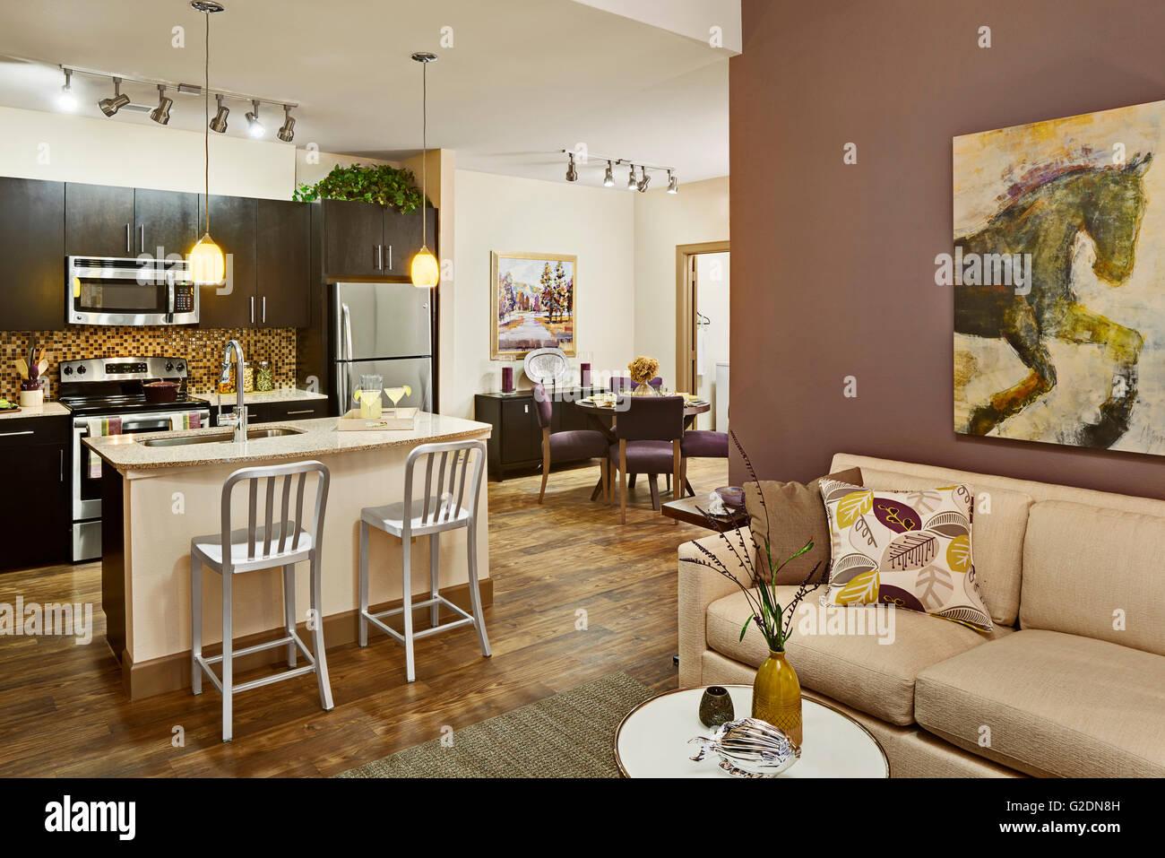 Apartment With Open Floor Plan Stock Photo Alamy