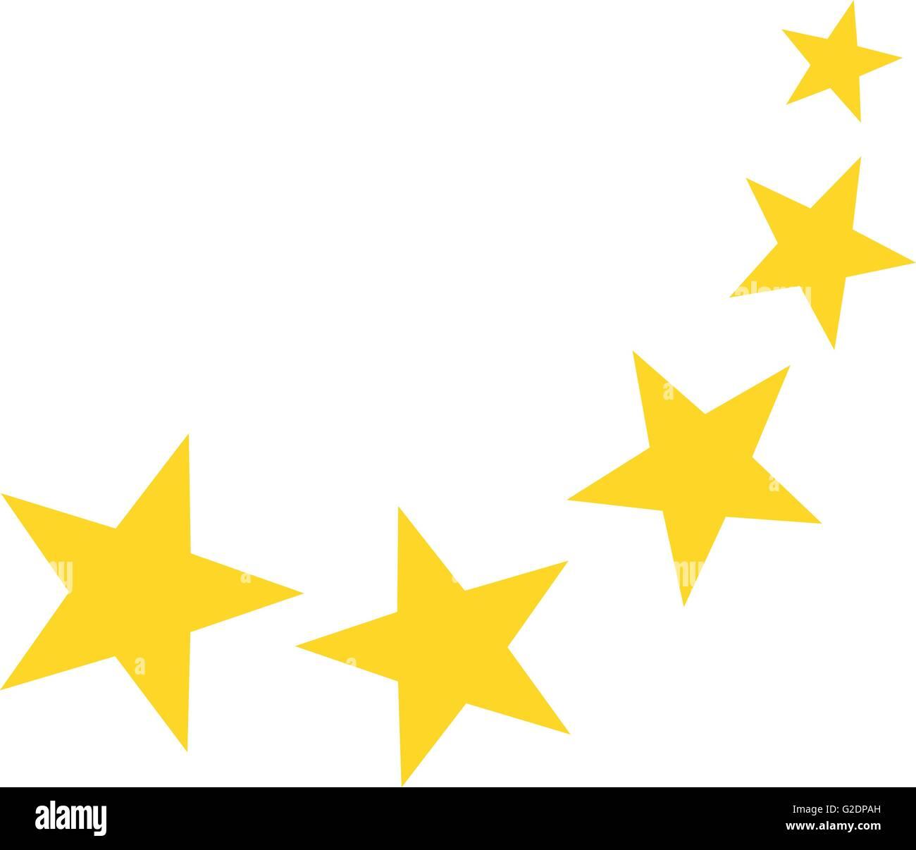 Falling yellow stars Stock Vector