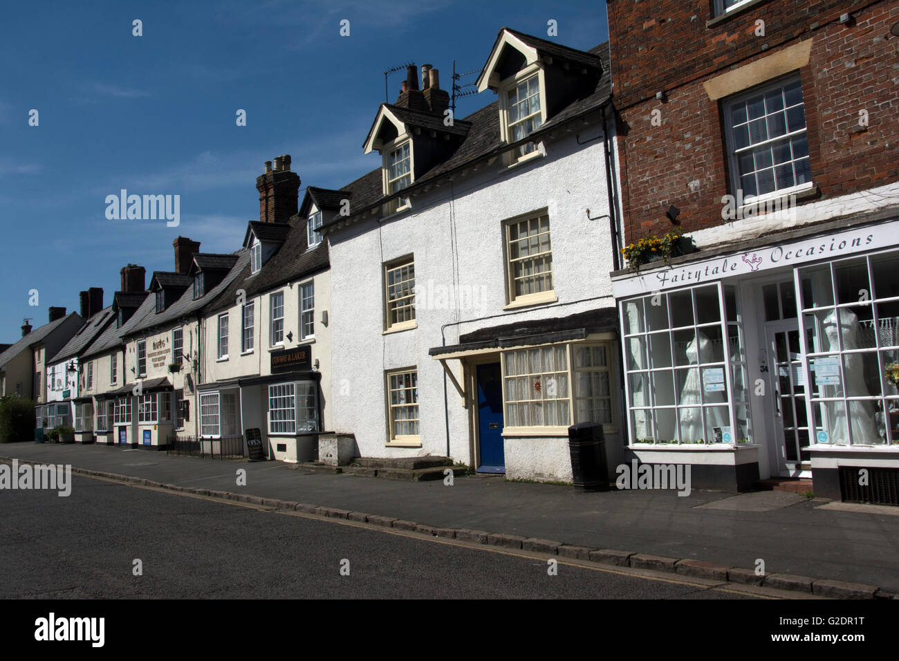 WILTSHIRE; HIGHWORTH; HIGH STREET HOUSES - Stock Image