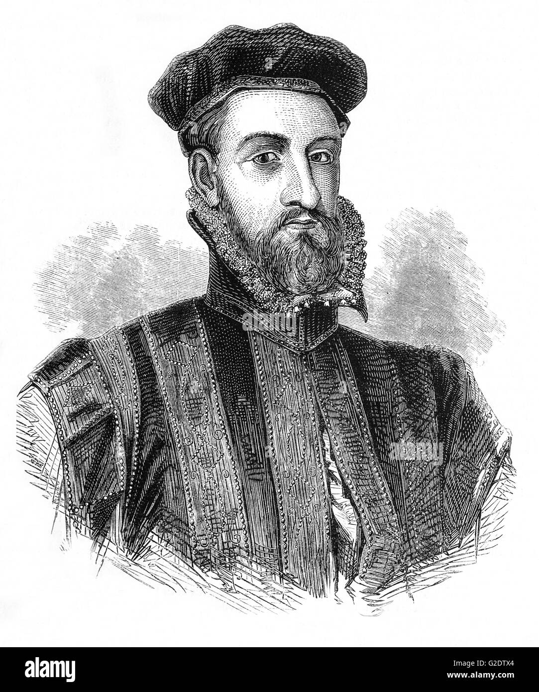 James Stewart, 1st Earl of Moray (1531 – 1570) a member of the House of Stewart as the illegitimate son of King Stock Photo