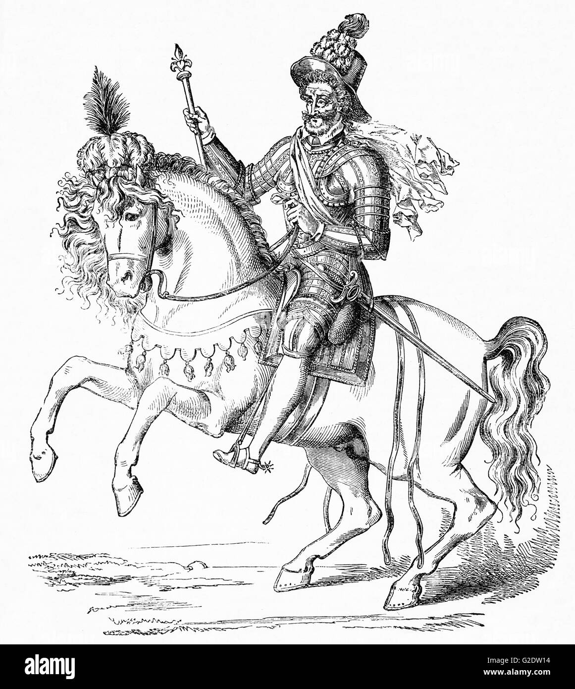 "Henry IV, also known by the epithet ""Good King Henry"", was King of Navarre from 1572 to 1610 and King of France Stock Photo"