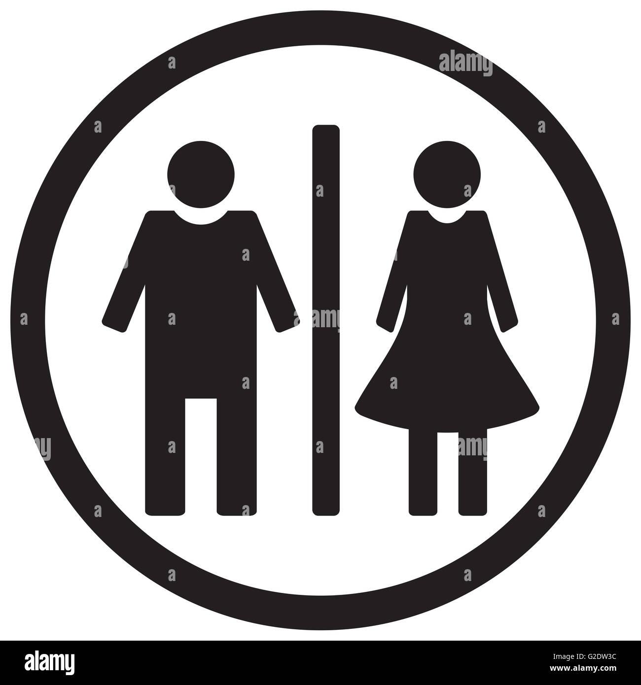 wc toilet icon gentleman restroom and lady bathroom vector stock