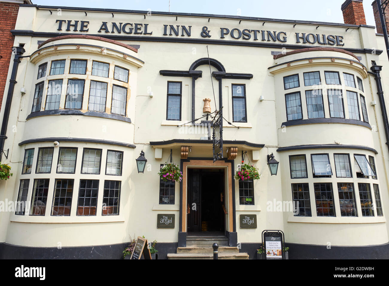 The Angel Inn And Posting House High Street Pershore Wychavon Worcestershire UK - Stock Image