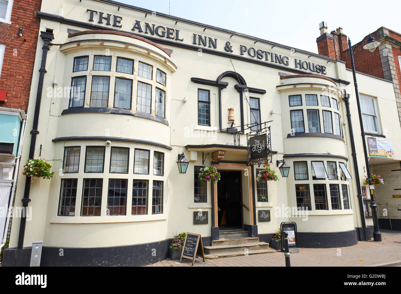 The Angel Inn And Posting House High Street Pershore Wychavon Worcestershire UK Stock Photo