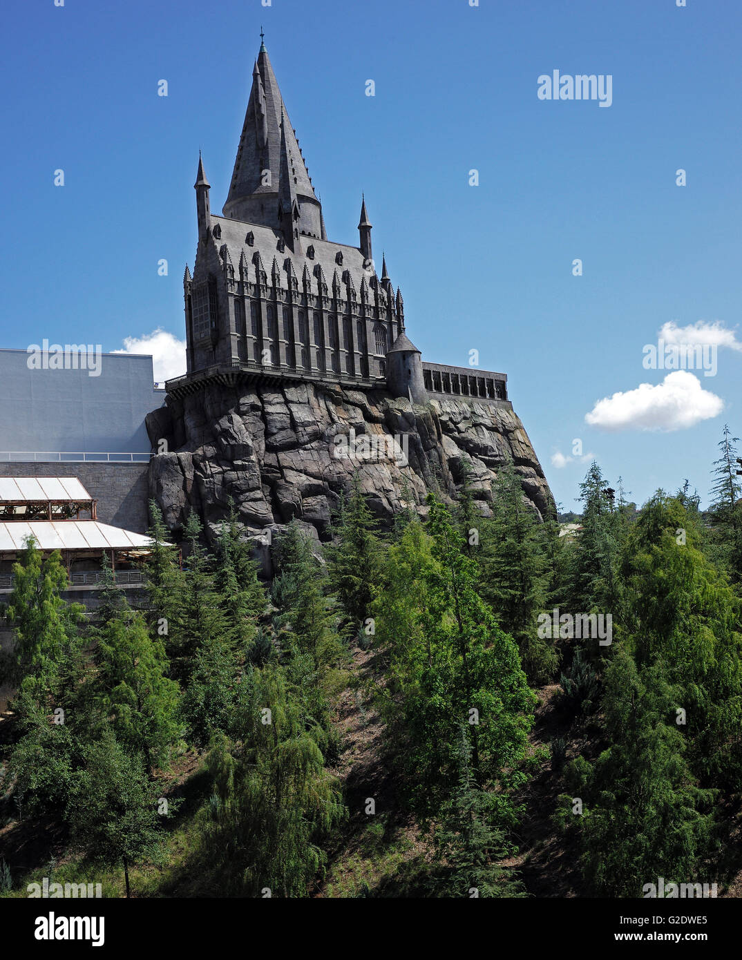Hogwarts School of Witchcraft and Wizardry Castle - Stock Image