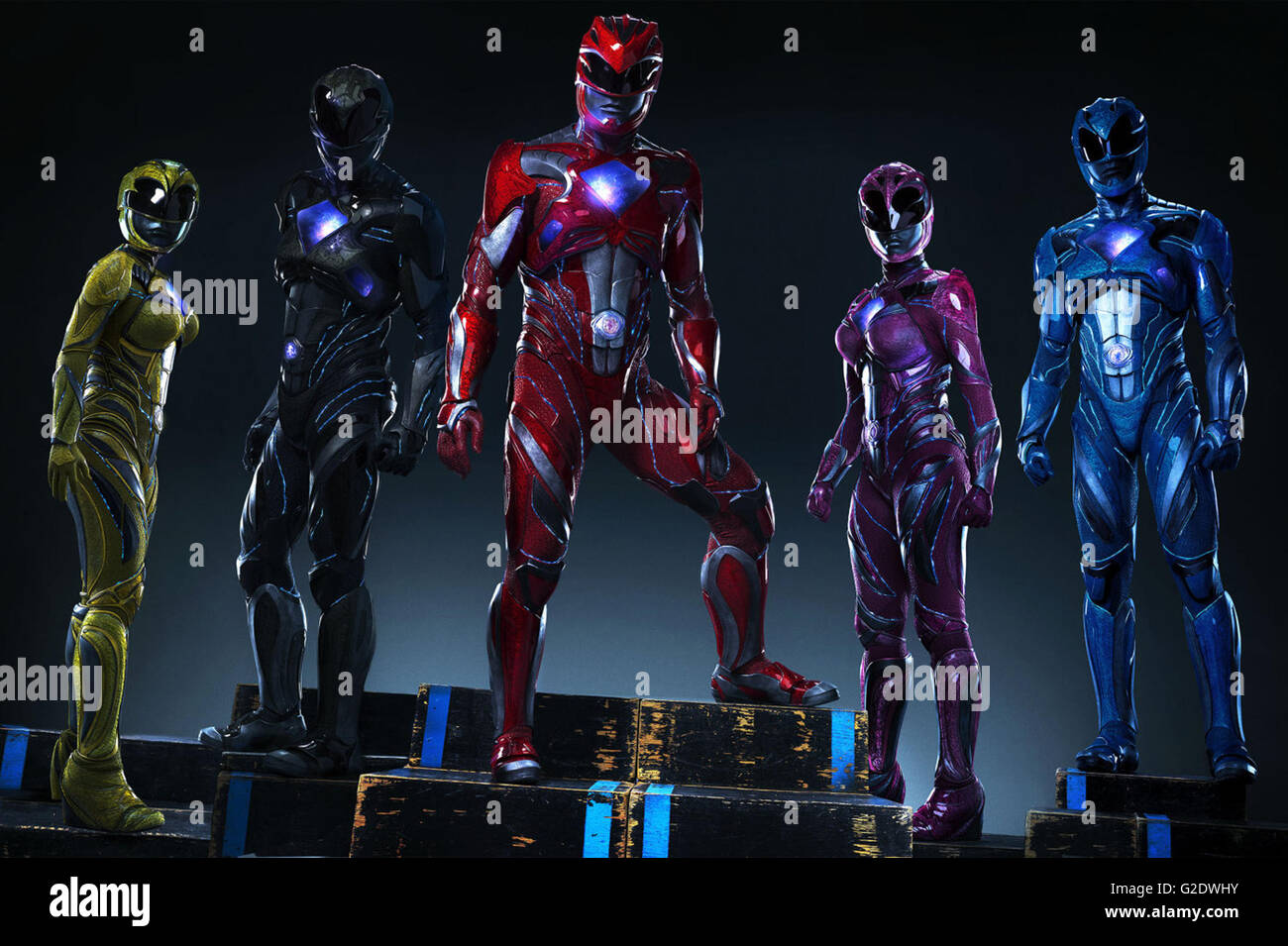 Power Rangers (announced as Saban's Power Rangers) is an upcoming 2017 American superhero film directed by Dean - Stock Image