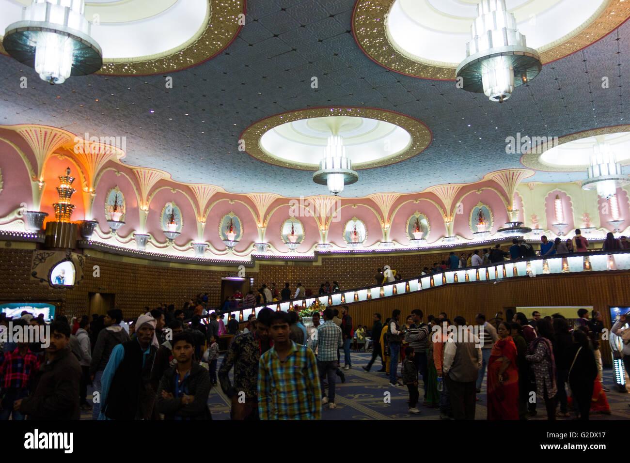 The Raj Mandir cinema lobby in Jaipur, India - Stock Image