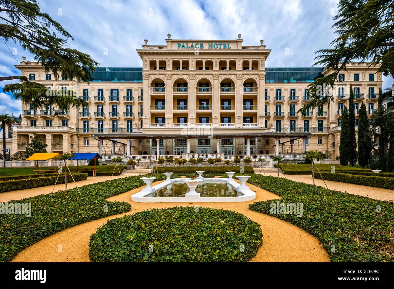 Slovenia Coast Anfd Kras Portoroz The Historic Palace Hotel Stock - Palace-hotel-in-slovenia