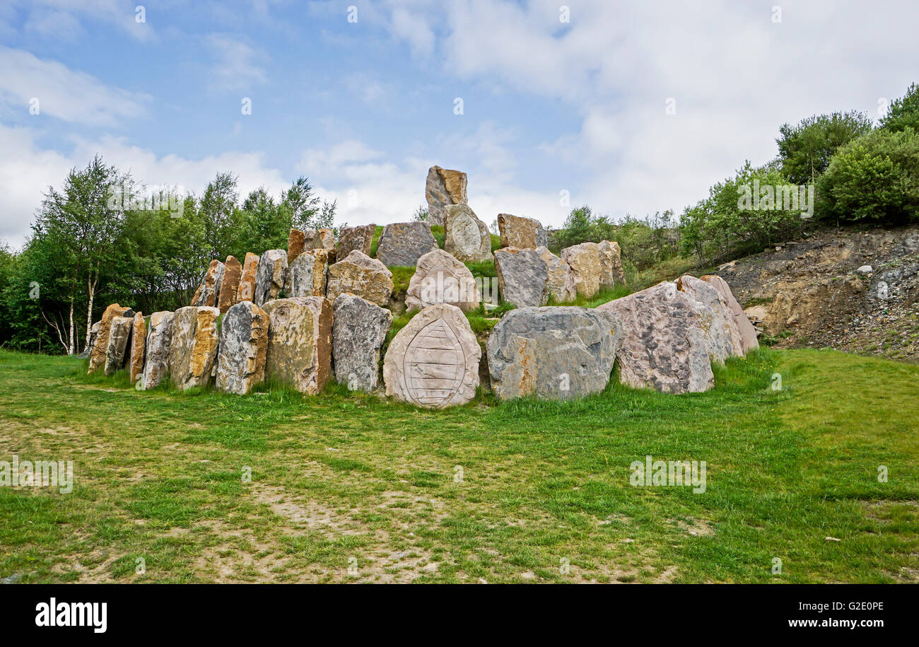 Crawick Multiverse near Sanquhar in Upper Nithsdale Scotland with Multiverse - Stock Image