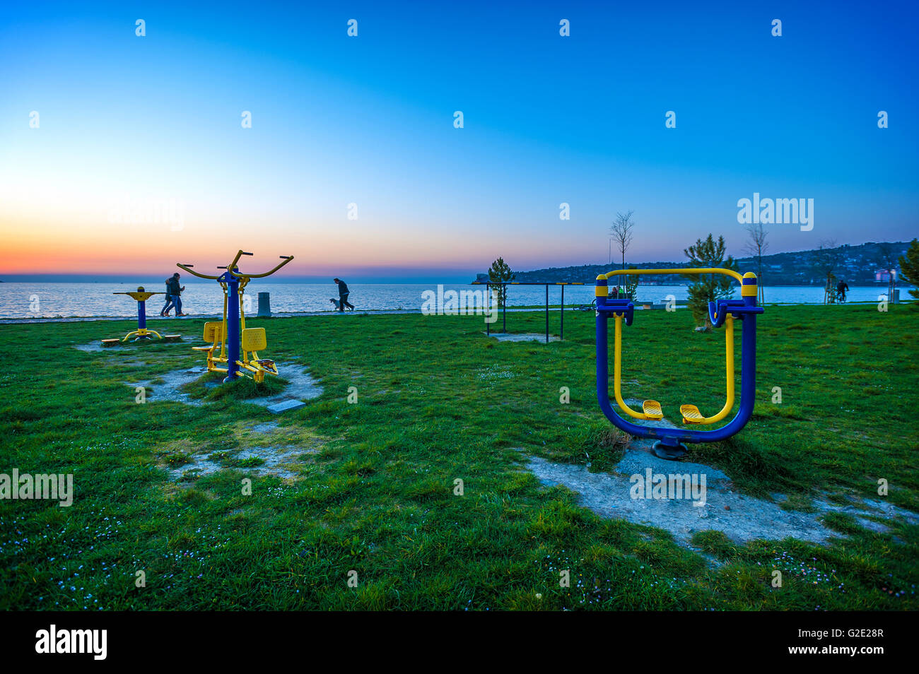 Slovenia Coast and Kars Seča Beach sports gear - Stock Image