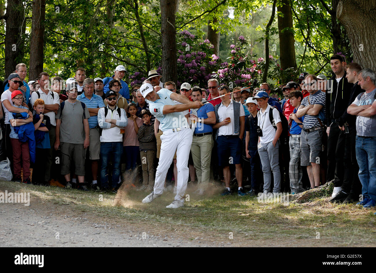 France's Julien Quesne on the 15th hole during day four of the BMW PGA Championship at Wentworth Club, Windsor. - Stock Image