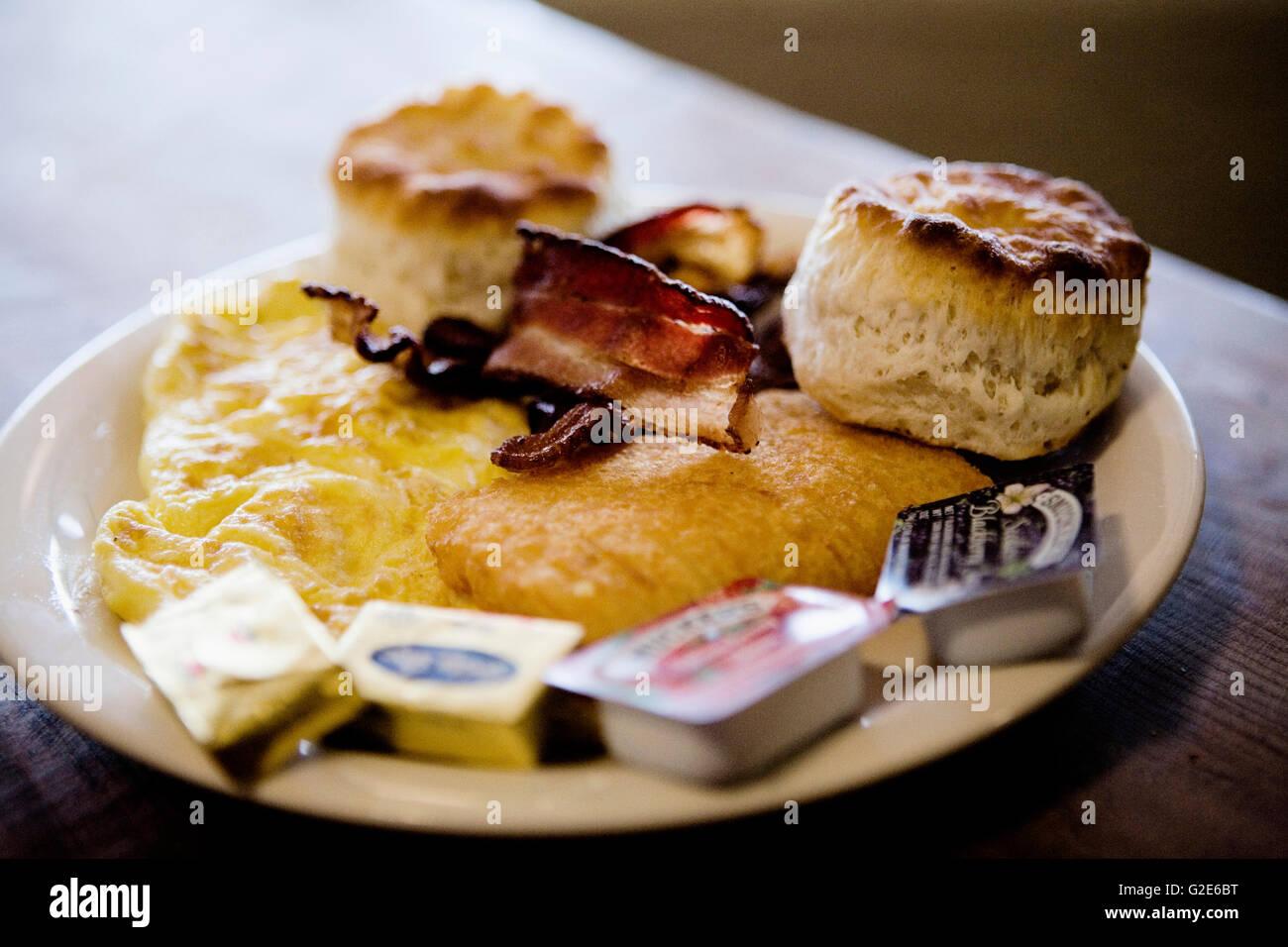 Diner Breakfast - Stock Image