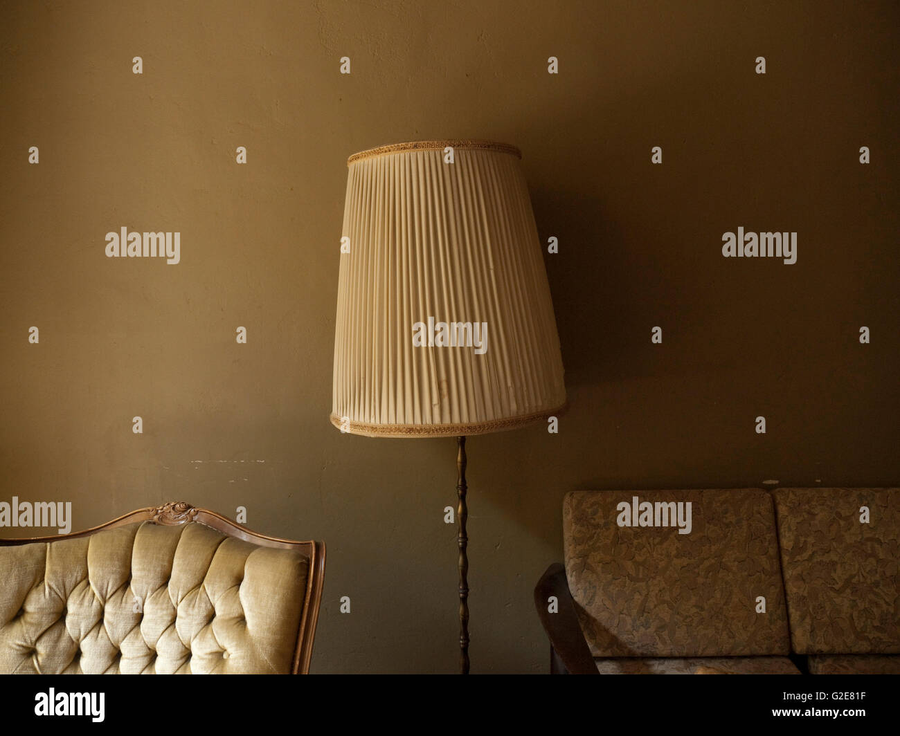 Lamp and Upholstered Chairs - Stock Image