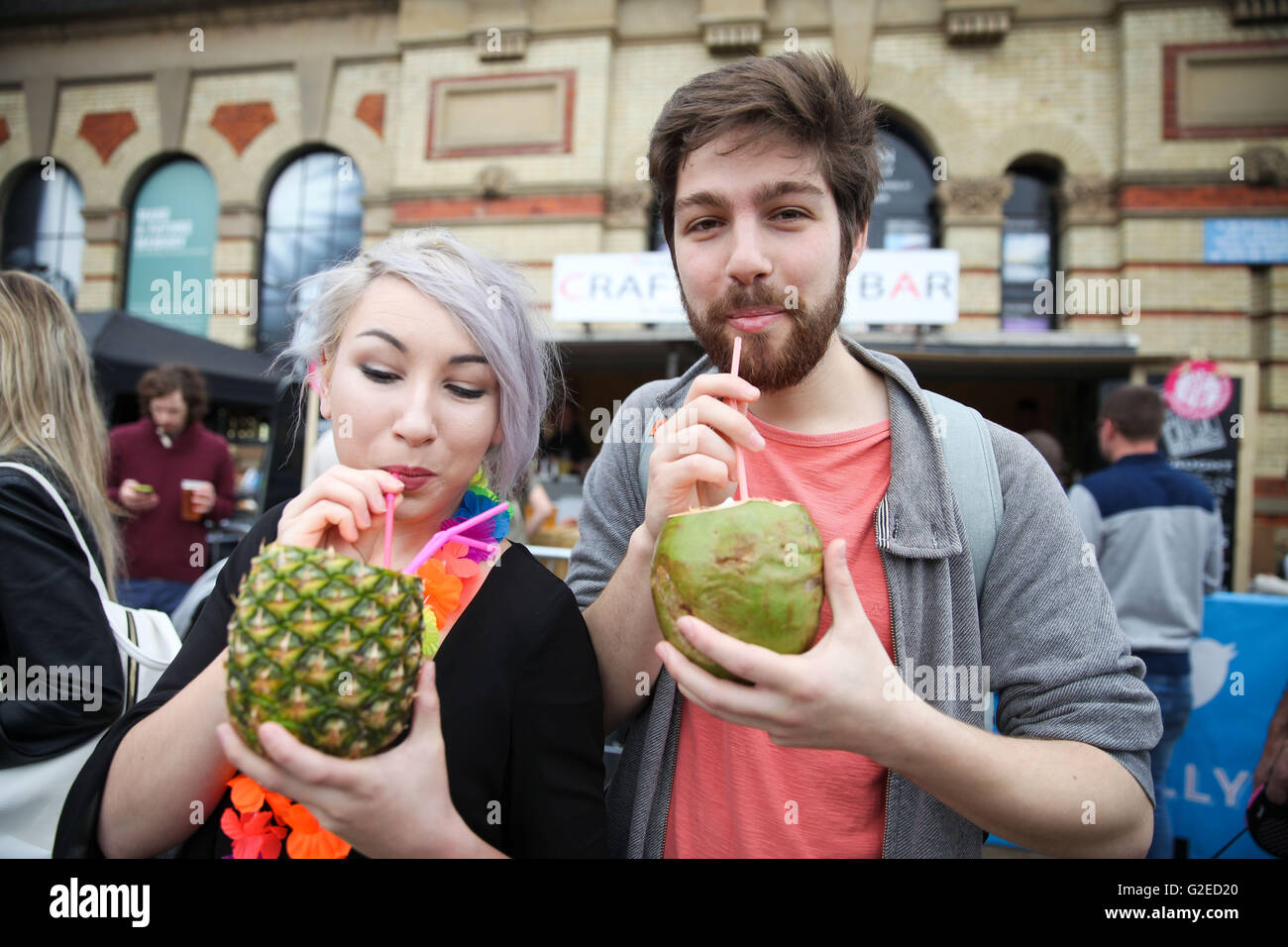 Alexander Palace, North London. 29 May 2016 - Thousands attend the summer Street Food & Beer Festival in Alexander - Stock Image