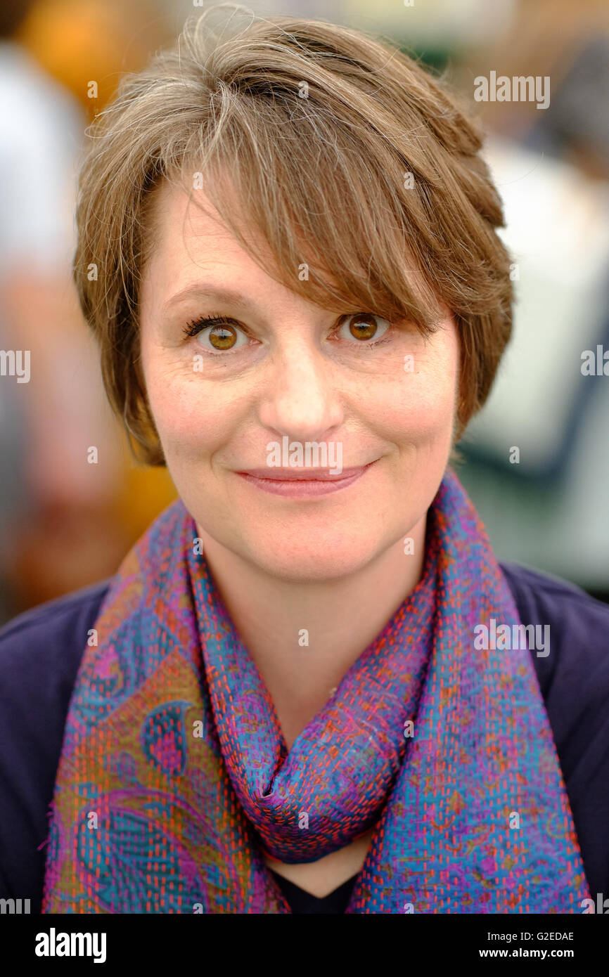 Hay Festival, Wales, UK - May 2016 -  Author Laura Bear is Associate Professor of Anthropology at the London School - Stock Image