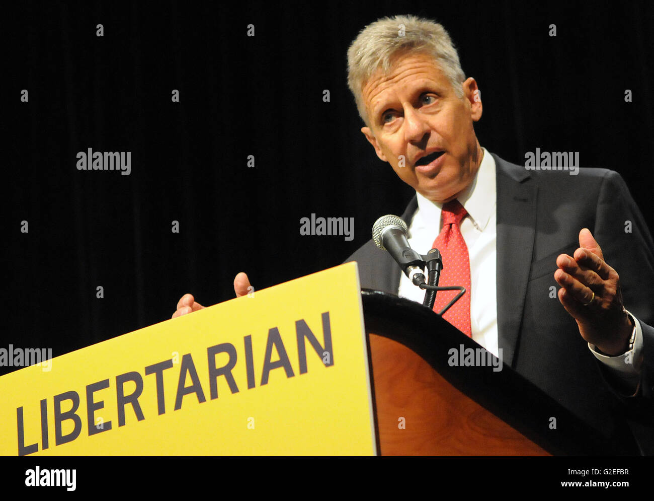 Orlando, Florida, USA. 29th May, 2016. Libertarian party presidential candidate, former New Mexico Governor Gary - Stock Image