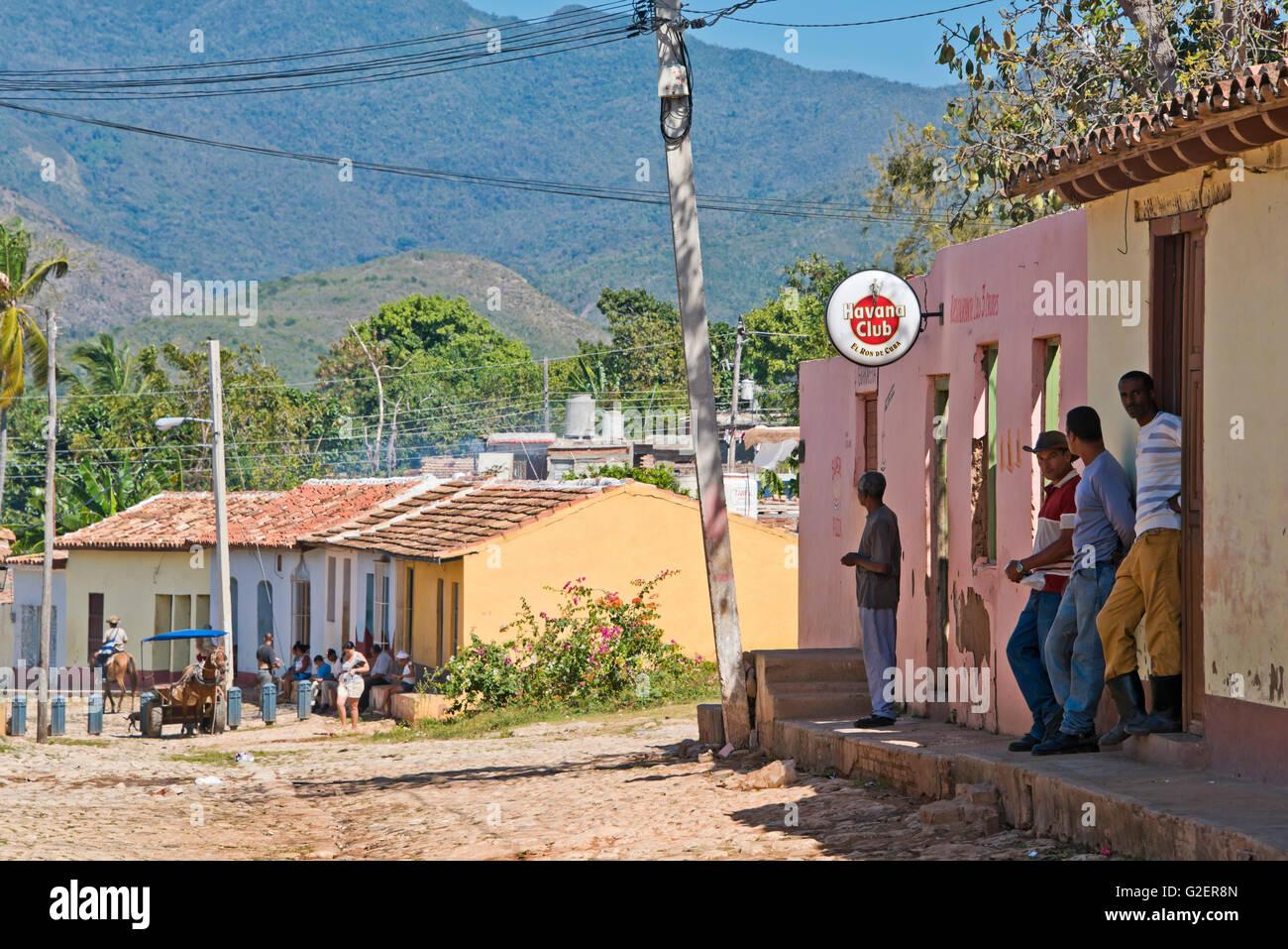 Horizontal street view in Trinidad, Cuba. Stock Photo
