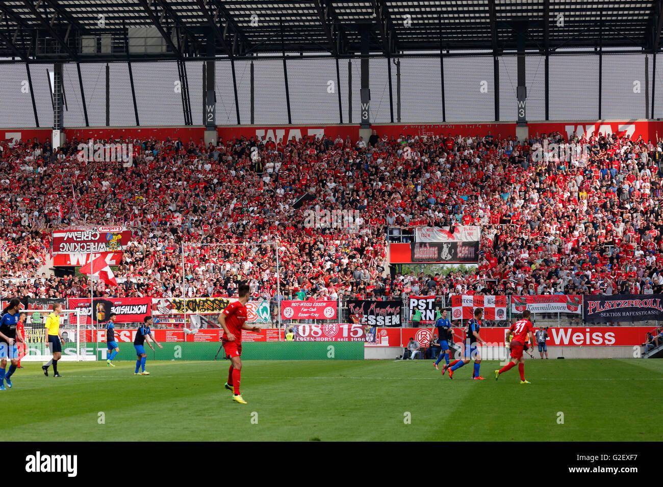 sports, football, Lower Rhine Cup, 2015/2016, final, Rot Weiss Essen versus Wuppertaler SV 3:0, Stadium Essen, Hafenstrasse, - Stock Image