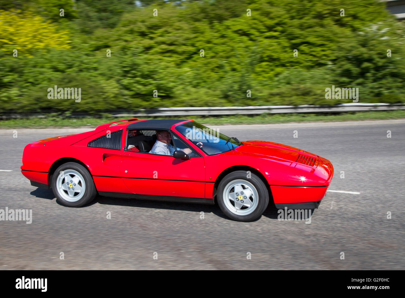 1985 Red Ferrari 288 Gto Side View Motion Blue Pendle Power Fest A Stock Photo Alamy
