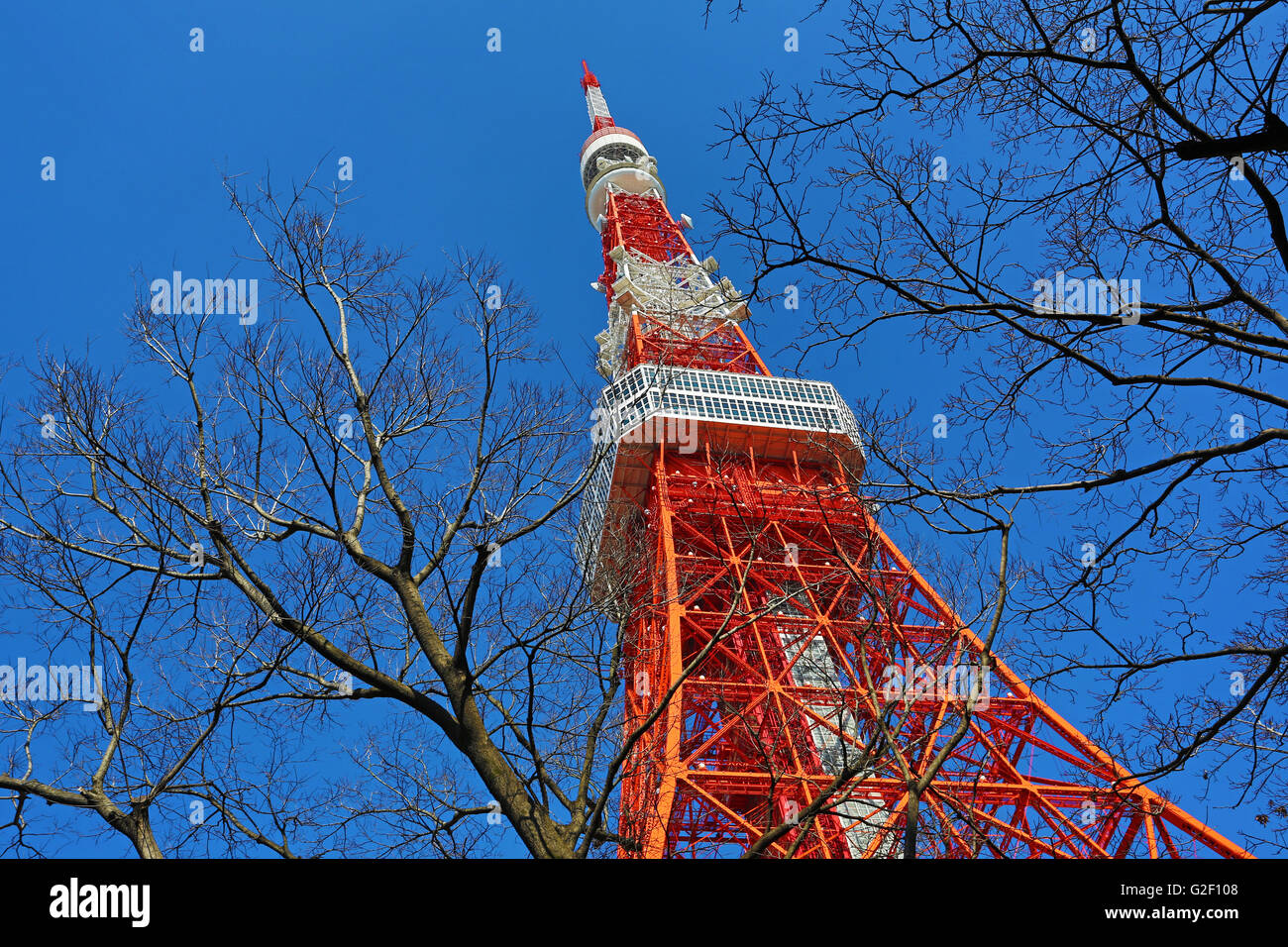 The Tokyo Tower in Tokyo, Japan - Stock Image