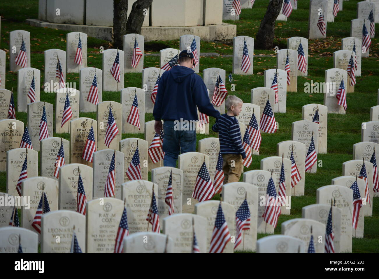 Remembering American Hero's - Stock Image