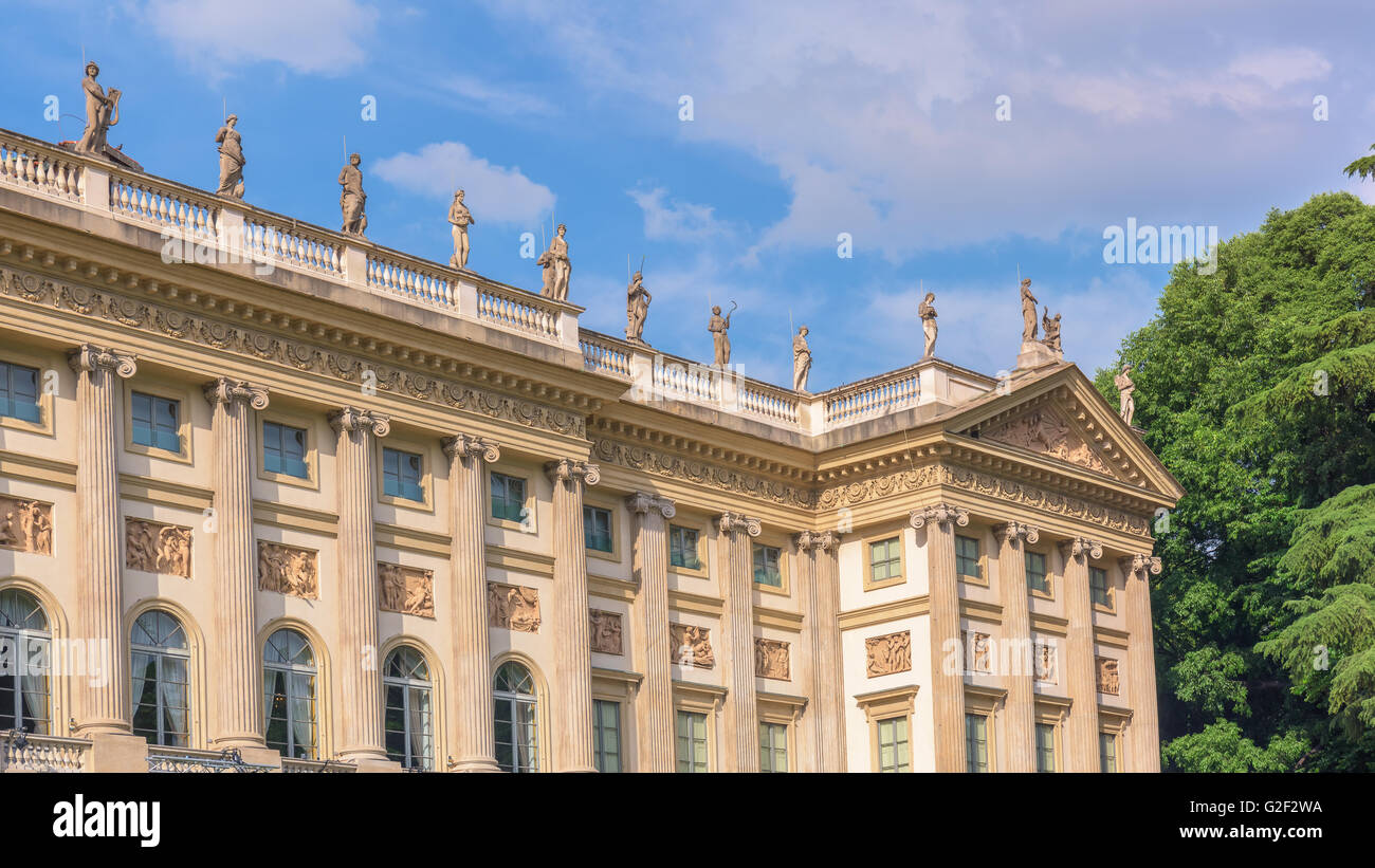Villa Reale, Milan,Italy; view of beautiful neoclassic palace. - Stock Image