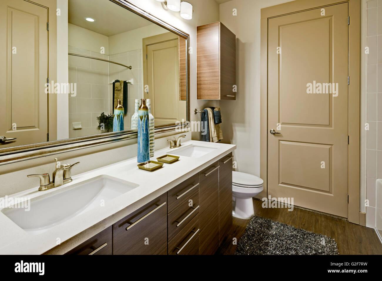 Small Bathroom - Stock Image