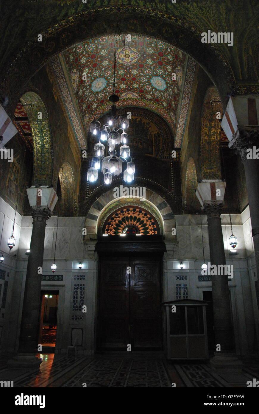 Damascus - Umayyad Mosque At Night, Architecture Stock Photo