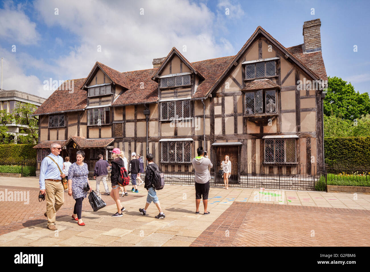 William Shakespeare Birthplace Museum, Stratford-upon-Avone, Warwickshire, England, UK - Stock Image