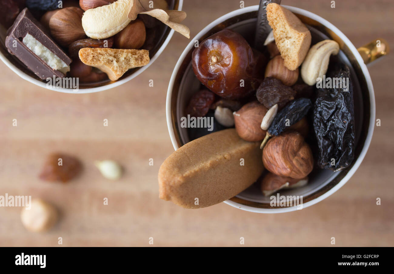 dried fruit mix - Stock Image