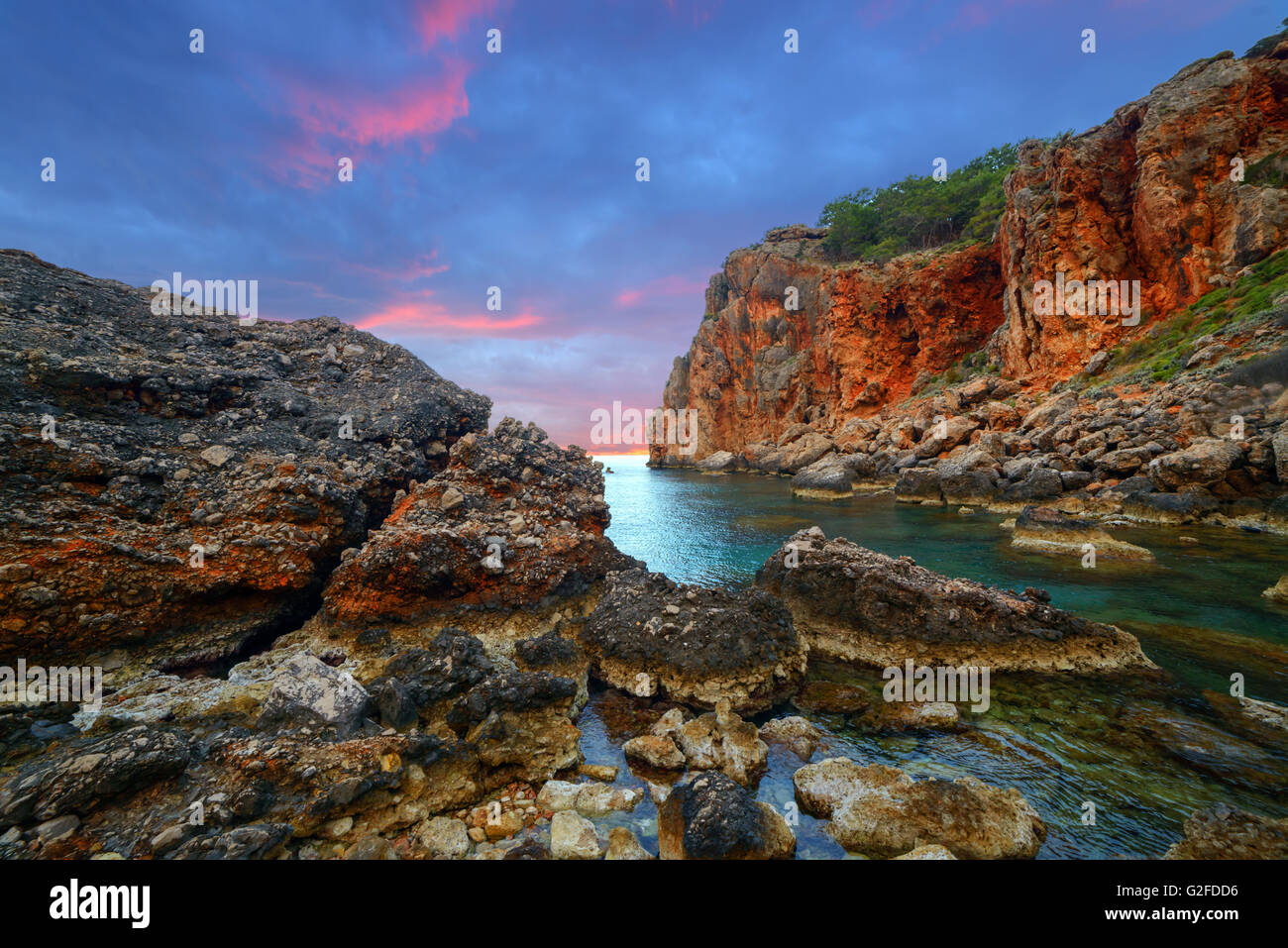 Amazing Mediterranean seascape in Turkey - Stock Image
