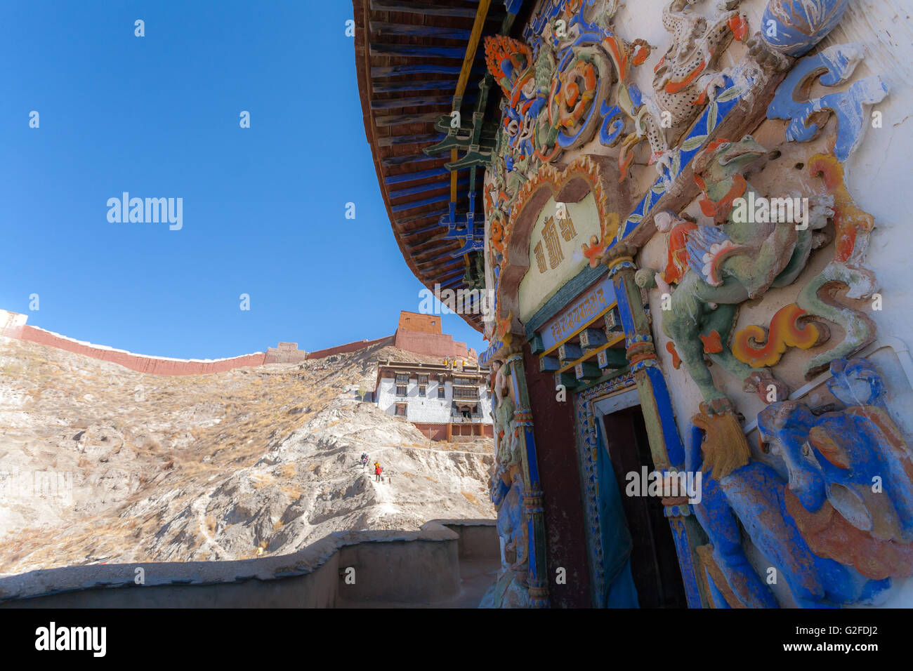 Kumbum Stupa, Phalkor Monastery - Gyantse Tibet. - Stock Image