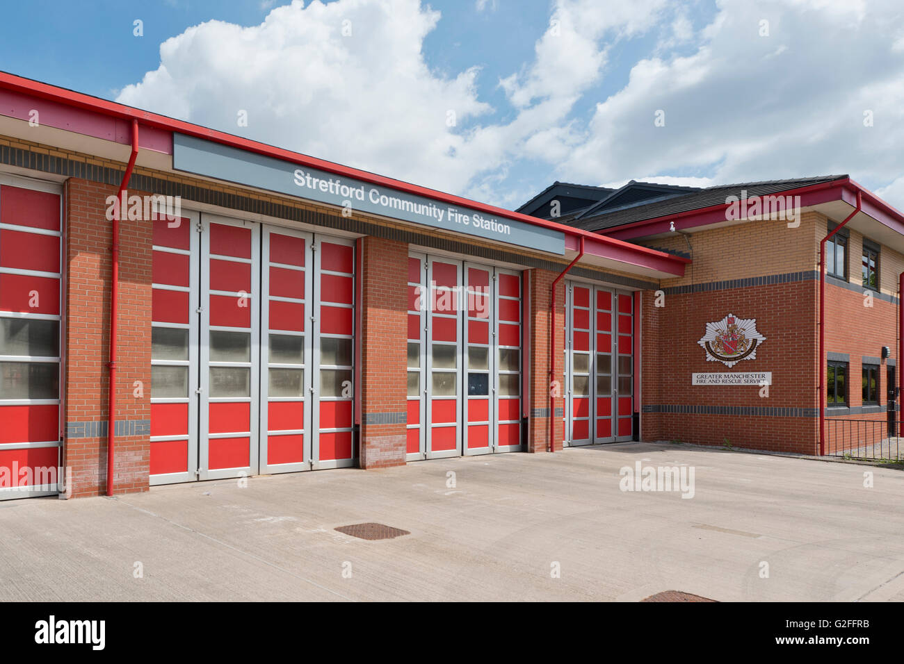 Stretford Fire Station located on Park Road in the Stretford area of Trafford in Manchester, UK. - Stock Image