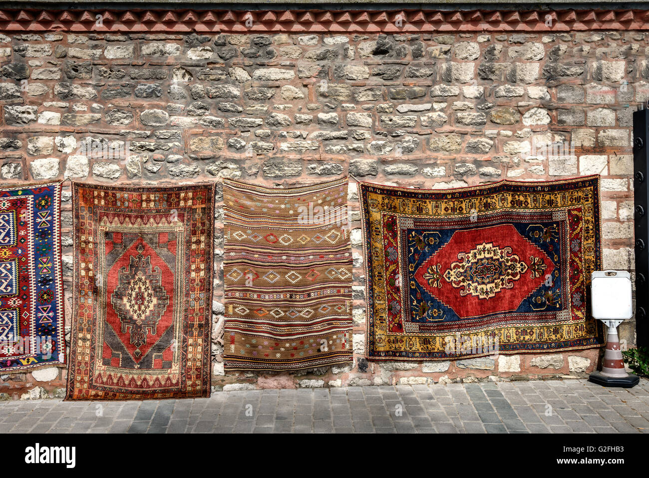 Hand made Turkish carpets are world famous and are weaved in different regions of Turkey. - Stock Image