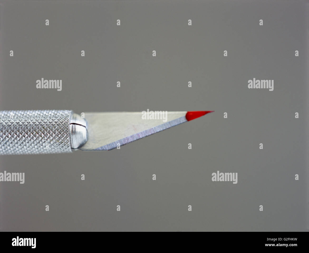 Blade with Red Tip - Stock Image