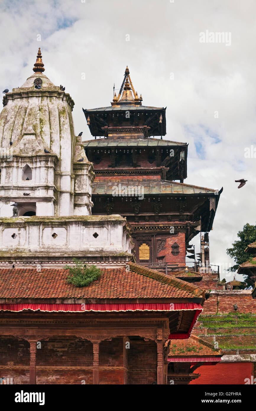 Ancient Buddhist Temples in Katmandu, Nepal - Stock Image