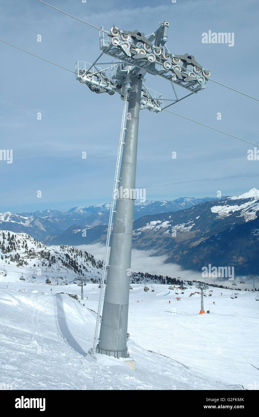 Ski Lift Mechanism Stock Photos Images Summit Stair Wiring Diagram Chair Steel Support Image