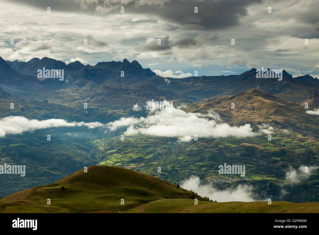 Autumn afternoon in Spanish Pyrenees near Panticosa, Huesca. Stock Photo