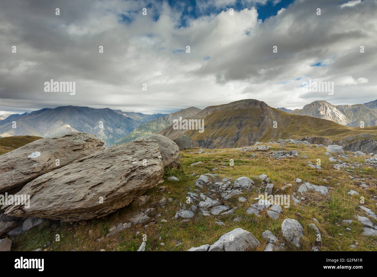 Morning in Sierra de Tendenera near Panticosa, Spanish Pyrenees. - Stock Image