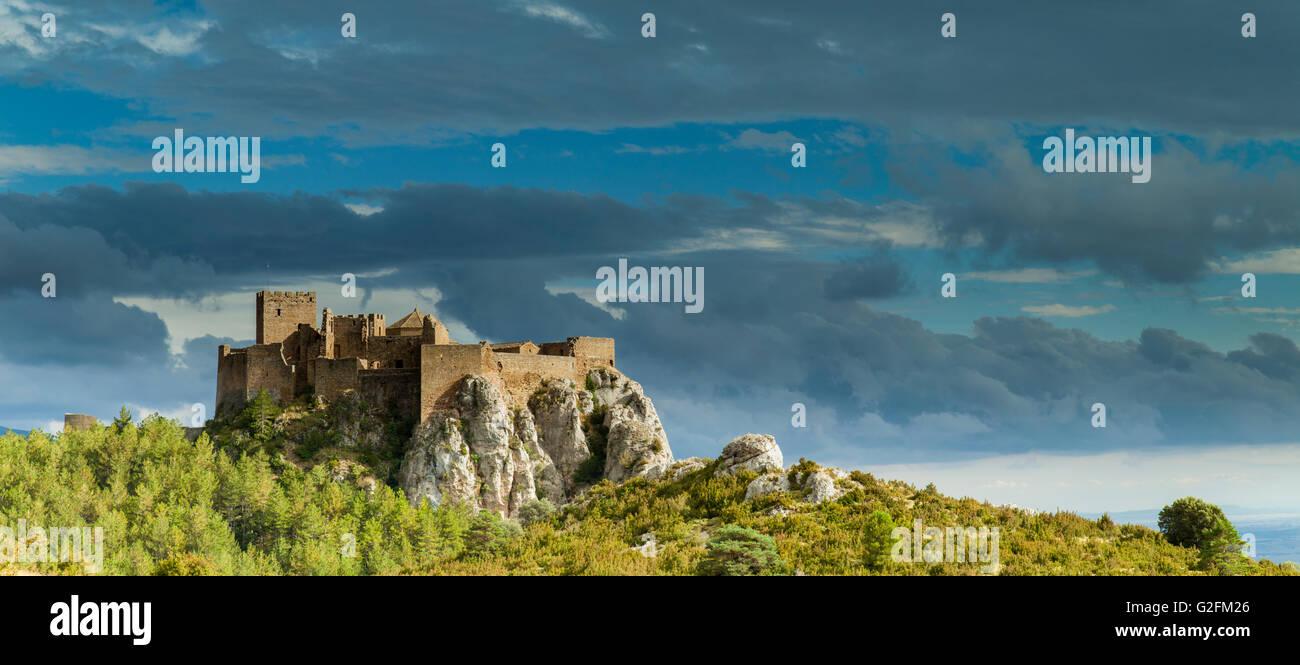 Loarre Castle, Huesca, Spain. Pre-Pyrenees of Aragón. - Stock Image
